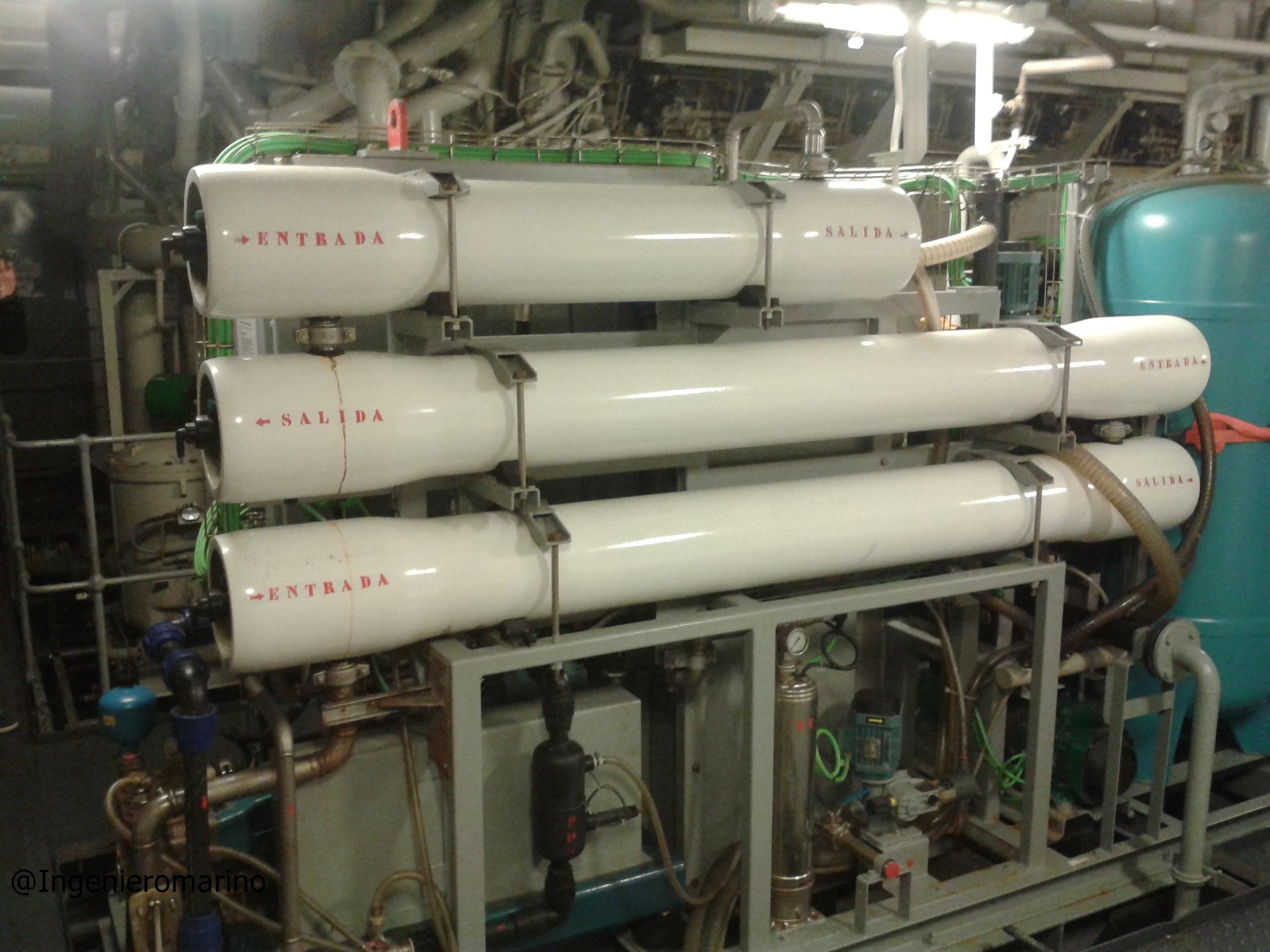 Sistema de Ósmosis Inversa a bordo