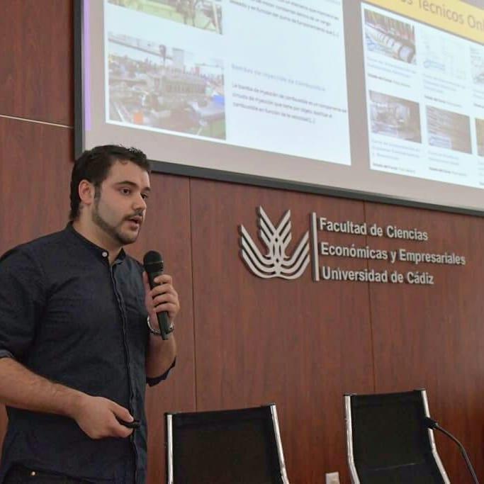 Presentación ingeniero marino en la facultad de ciencias económicas y empresariales de la universidad de cádiz
