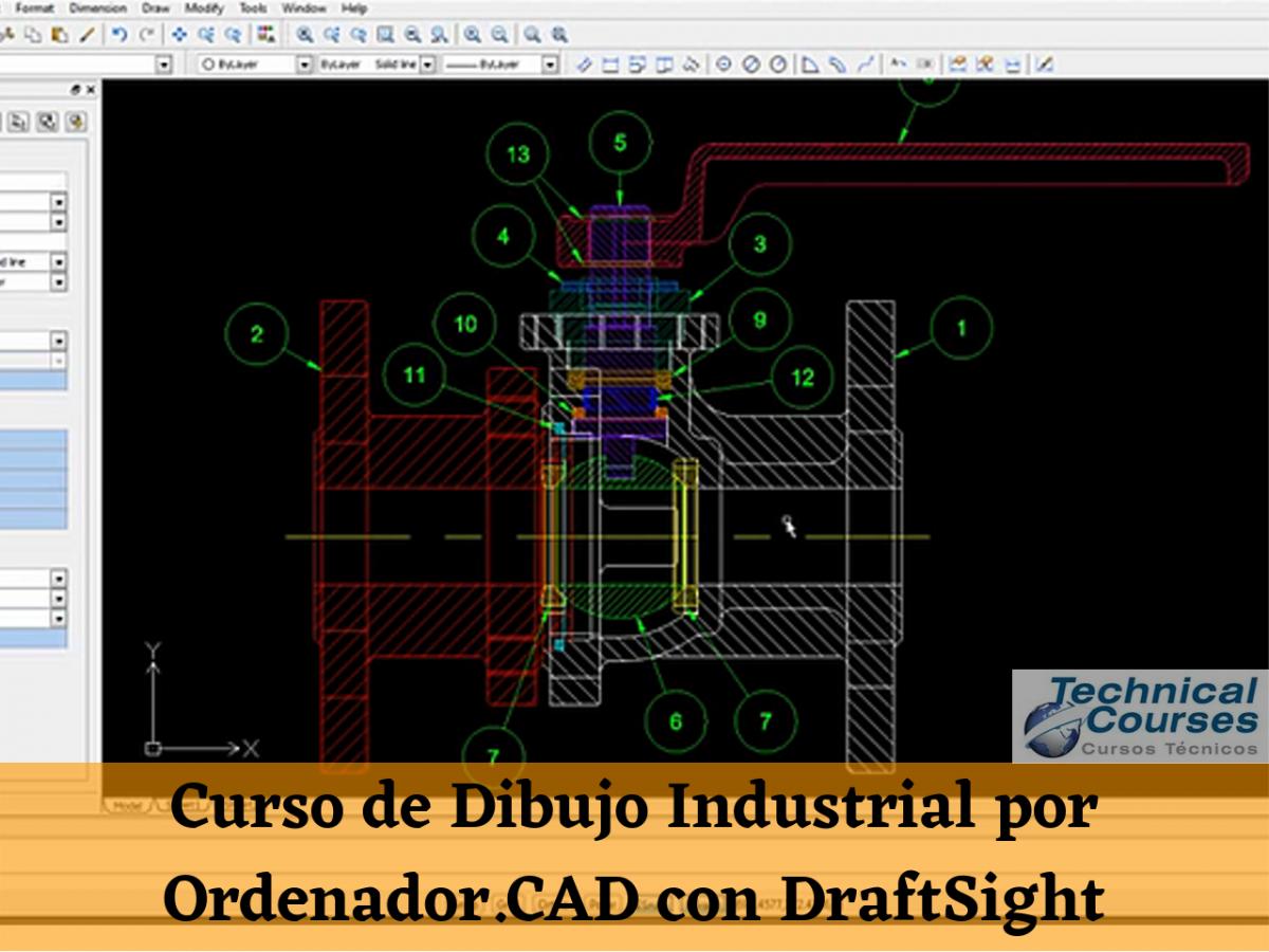Curso de Dibujo Industrial por Ordenador. CAD con DraftSight