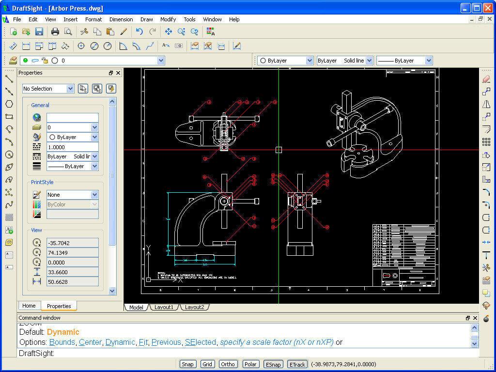 Curso de Dibujo Industrial por Ordenador.CAD con DraftSight
