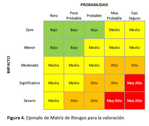 Ejemplo de Matriz de Riesgos