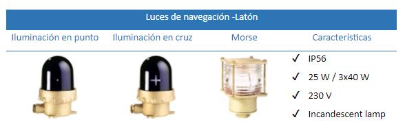 Luces de Navegación Laton