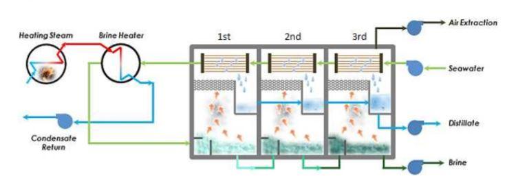 Generadores de Agua Dulce. Evaporador Sumergido y Tipo Flash