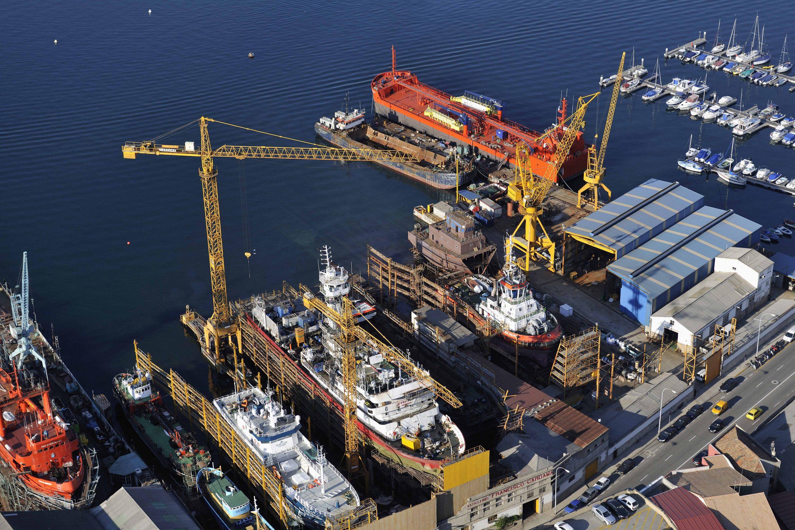 Cardama Shipyard vista aérea