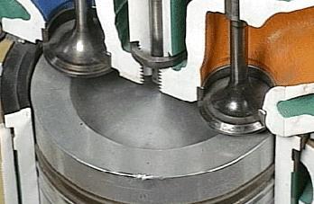 cámara de combustión en piston