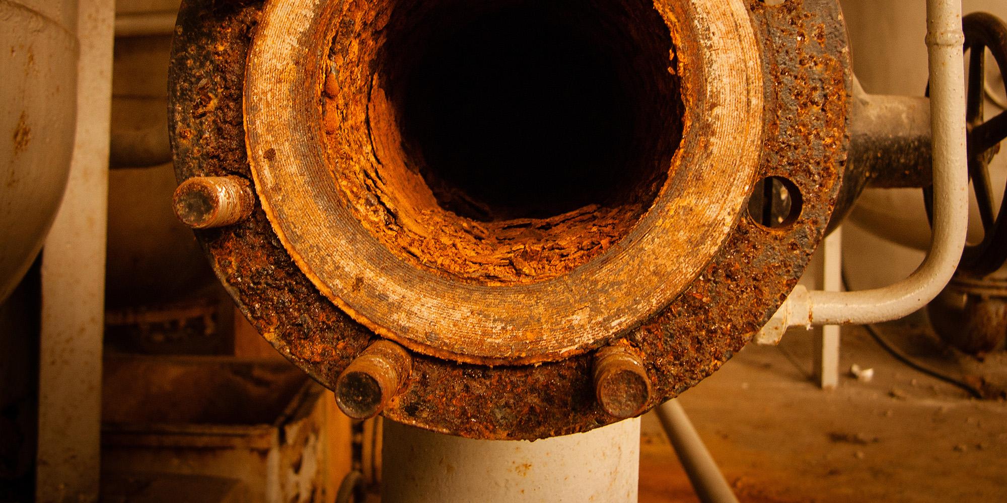 corrosión en tubería. sensor