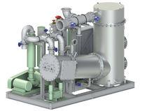 Esquema de gas inerte fuente generador