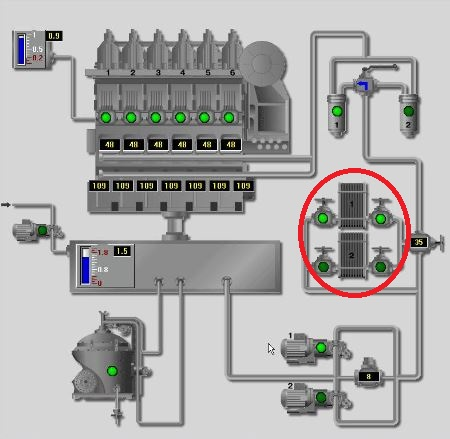 esquema de lubricación intercambiadores