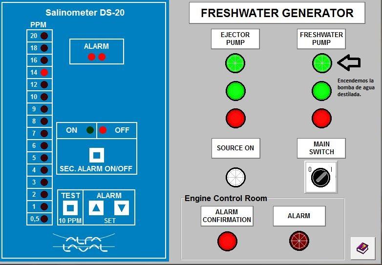 generador paso diagrama encendido con las dos bombas encendidas