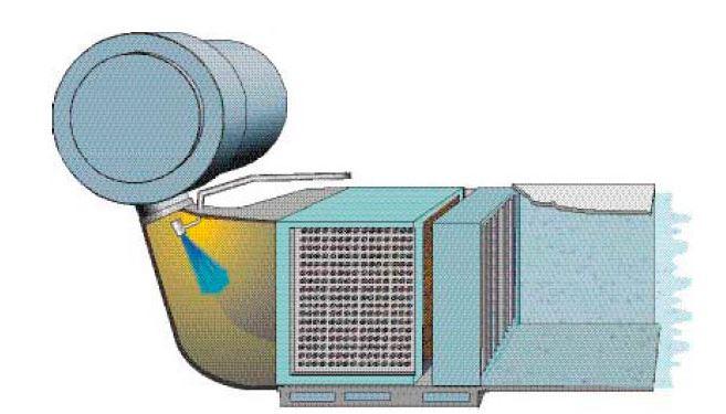 Humidificador de gases de admision
