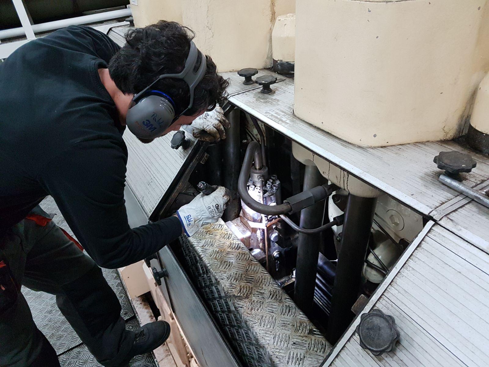 inspección bomba a bordo