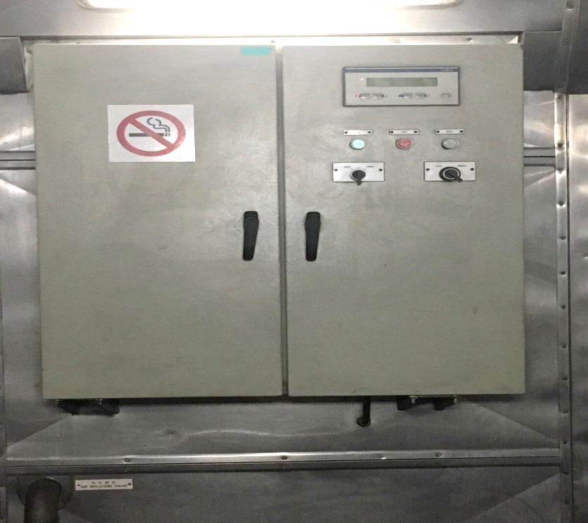 panel de control local del motor