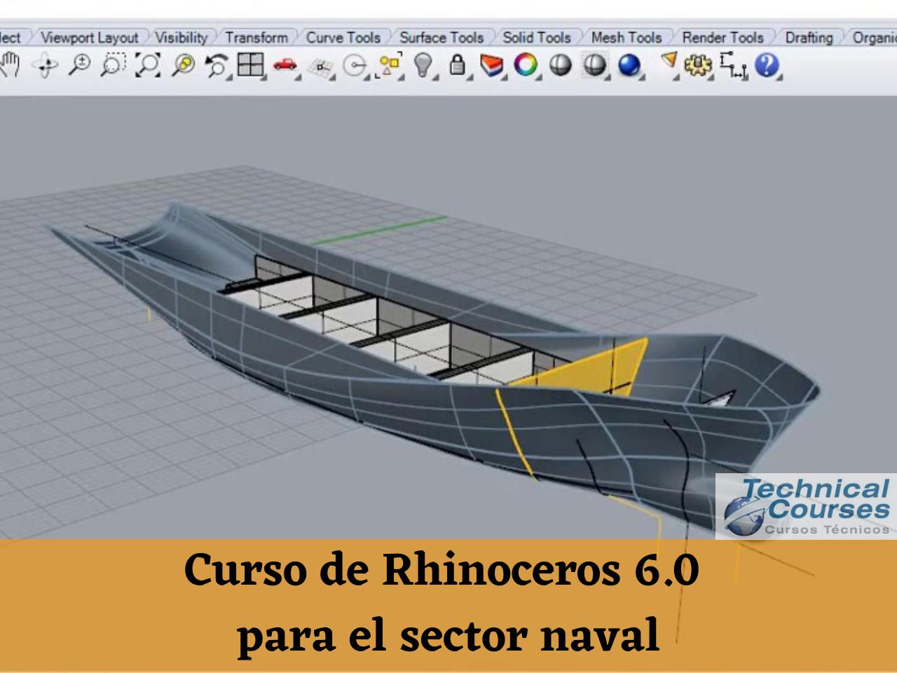 Curso de modelado Rhinoceros 6.0 para el sector naval