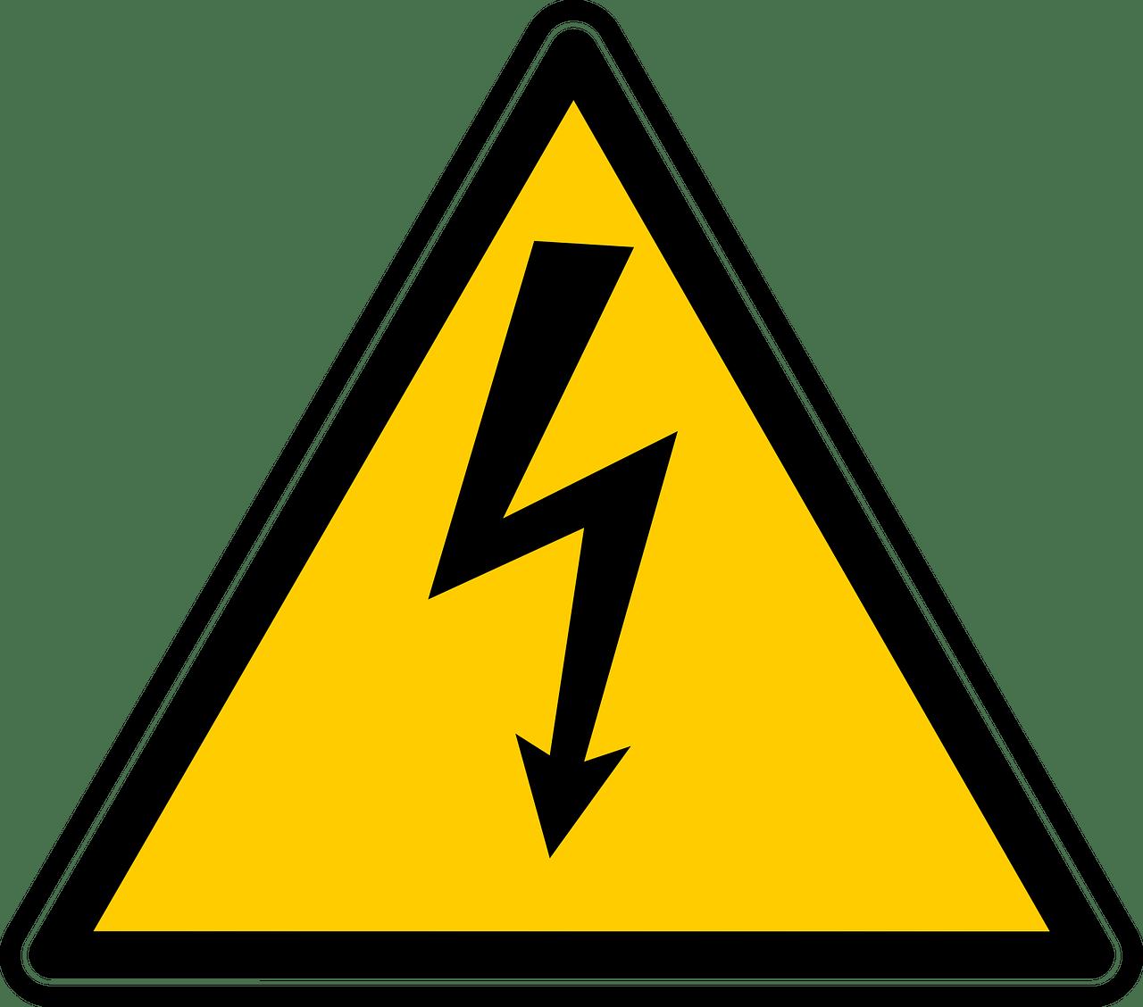 señal peligro rayos