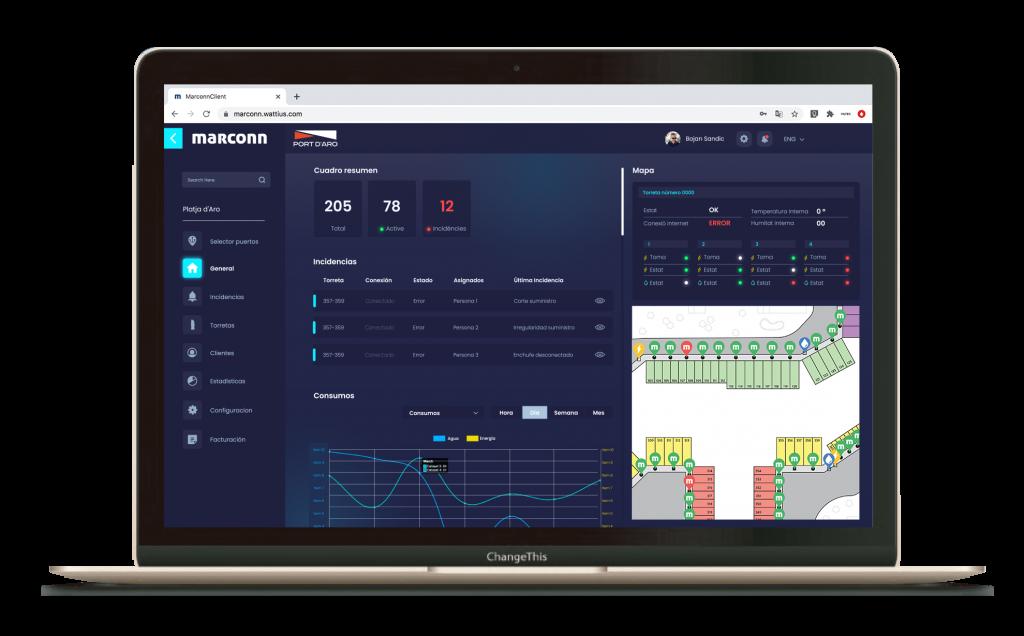 software para torreta puerto náutico