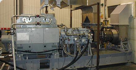 turbina de gas para generación eléctrica